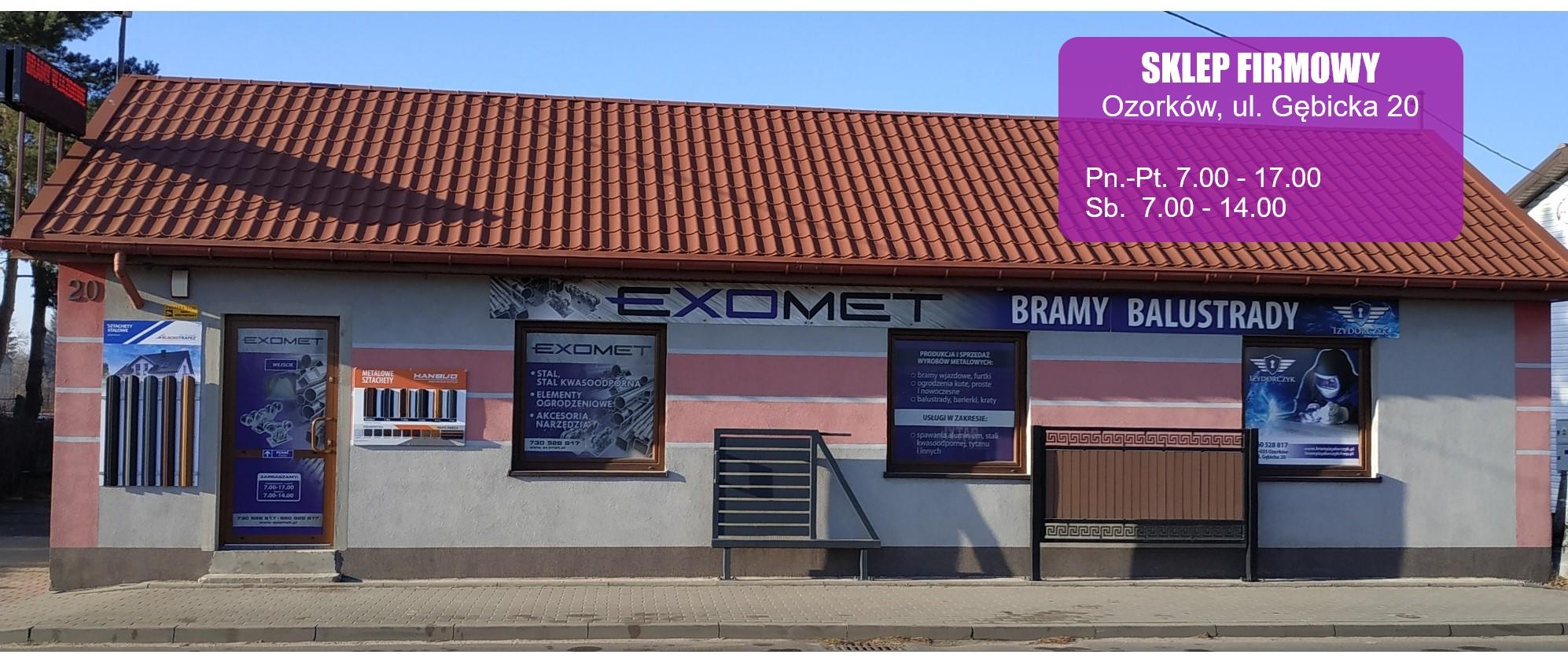 sklep metalowy Exomet